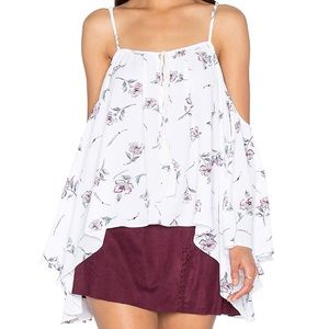 Bishop and young cold shoulder floral top